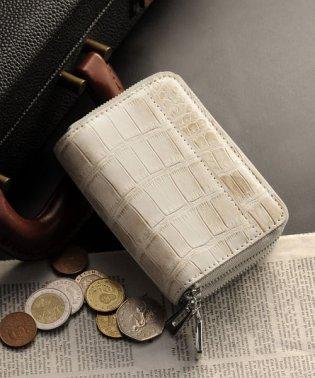 ヒマラヤクロコダイルレザーダブルファスナーミニ財布