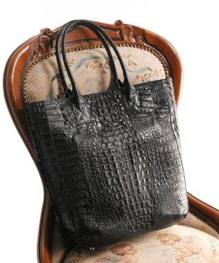 カイマンレザーハンドバッグ A4大きいサイズ