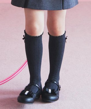 【KIDS雑貨】リボン付きソックス(16~24cm)