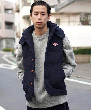 DANTON × BEAMS / 別注 ウールモッサ ダウンベスト