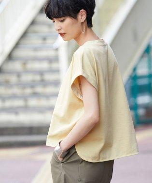 【洗える】ハイゲージ天竺ワイドショートTシャツ