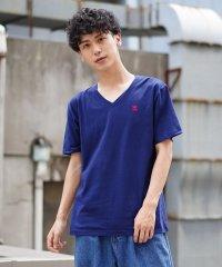 [GIORDANO]ライオン刺繍VネックTシャツ