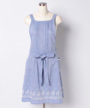 裾刺繍エプロン