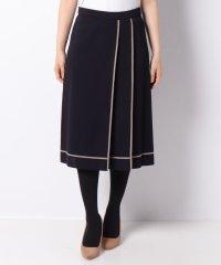 【セットアップ対応】16Gミラノリブ 配色ライン使いスカート