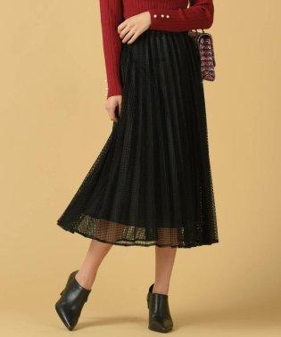 【WEB別注】スクエアシアーチェックロングプリーツスカート