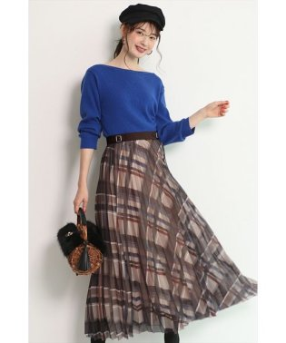 【Marisol10月号掲載】シアーチェックプリーツスカート