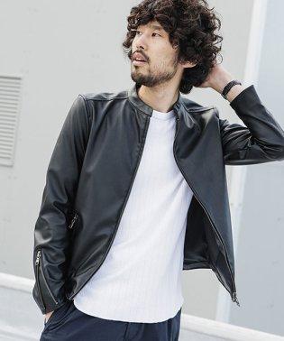 【WEB限定】シンセティックレザーライダースジャケット