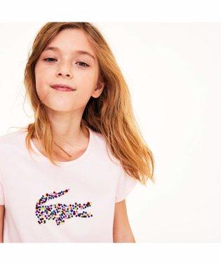 GIRLSマルチカラーボルカドットワニロゴTシャツ