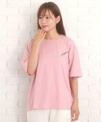 ワンポイントTシャツ 可愛い シンプル カジュアル 羽 ワンポイント 夏【ra-2176】