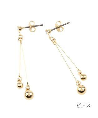 ダブルボールのちょい揺れイヤリング/ピアス
