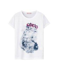 T-GRAPHICS ガールズ 学研 もふもふ 動物Tシャツ EJ193-KG096