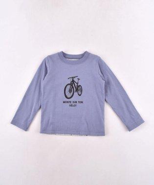 天竺自転車プリントリバーシブルTシャツ