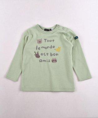 スムースアニマルロゴプリントTシャツ