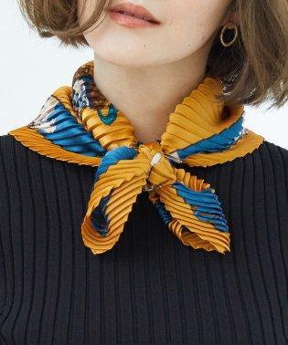 パターンプリントプリーツスカーフ