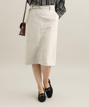 【MACHINE WASHABLE】 エコスエードタイトスカート