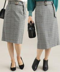 【EASY CARE】【着丈が選べる】先染めチェック柄タイトスカート