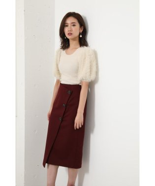 Power Shoulder shaggy KNIT TOP