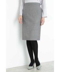 シルクウールギャバストレッチセットアップスカート