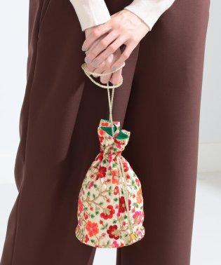 DIR 69 × Ray BEAMS / 別注 刺繍 巾着バッグ
