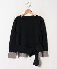 【大きいサイズ】【セットアップ対応】16Gミラノリブ 配色使いセーター