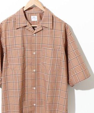 チェックオープンカラーワイドフィットシャツ