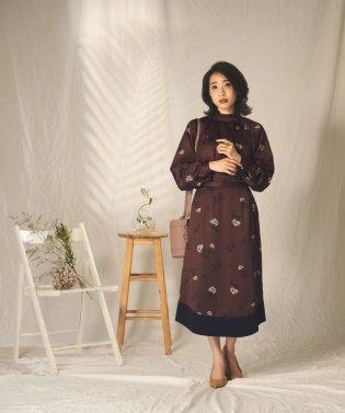 【セットアップ対応商品】プリントバイカラースカート