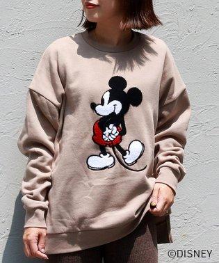 Disney(ディズニー)ミッキーサガラ刺繍トレーナー