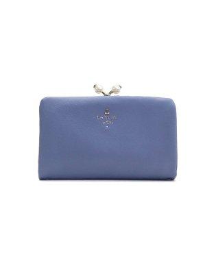 ランバンオンブルー 財布 LANVIN en Bleu 二つ折り 二つ折り財布 シャペル 口金2つ折り財布 がま口 本革 かわいい パール 480723