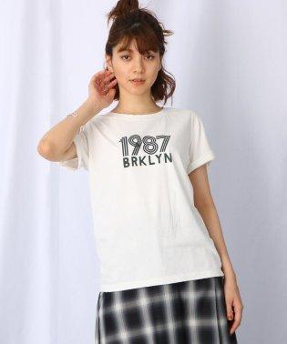 【洗える】ヴィンテージライク ロゴTシャツ