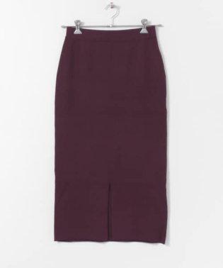 ハーフミラノニットスカート