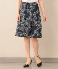 【Sサイズ~】【ウォッシャブル】ラインフラワープリントスカート
