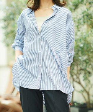 パールボタンコットンシャツ