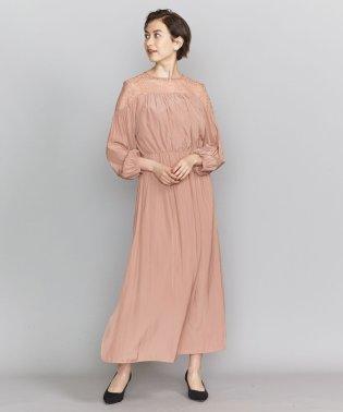 BY DRESS デシン×レース 6分袖ドレス
