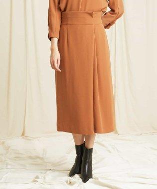 【洗濯機OK】【セットアップ】ラップタックタイトスカート