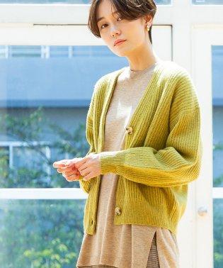 【ムック本掲載・手洗いできる】ラムウール畦編みカーディガン