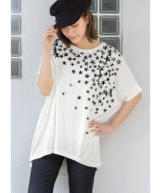 星柄 ゆるTシャツ