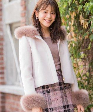 【美人百花11月号掲載】フードZIPハーフ丈コート