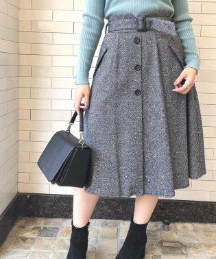 ツイードミディーフレアースカート