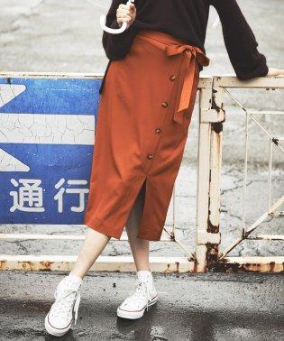 【Willful by lipstar】ストレッチギャバ巻き風スカート