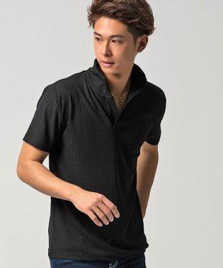 CavariA【キャバリア】ループテレコイタリアンカラー半袖ポロシャツ