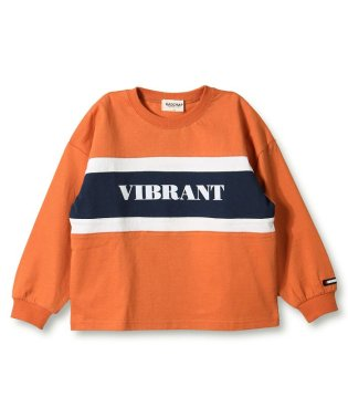カラーブロック長袖Tシャツ(80~140cm)