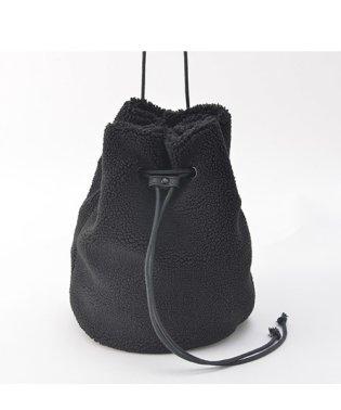 Rename ファーボア 巾着ハンドバッグ