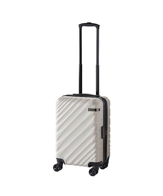 (ACE DESIGNED BY ACE/エースデザインドバイエース)エース スーツケース 機内持ち込み Sサイズ 軽量 拡張 36L/43L ACE 06421 オーバル ダイヤルロック/ユニセックス ライトグレー