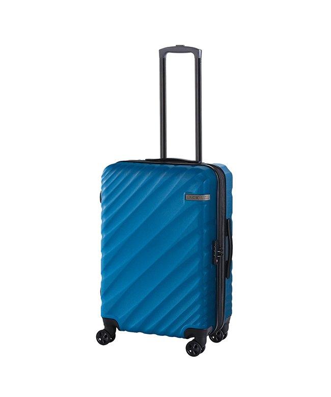 (ACE DESIGNED BY ACE/エースデザインドバイエース)エース オーバル スーツケース Mサイズ 軽量 拡張 57L/70L ダイヤルロック ACE 06422/ユニセックス ブルー