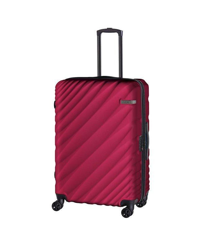 (ACE DESIGNED BY ACE/エースデザインドバイエース)エース オーバル スーツケース Lサイズ 90L/111L 拡張 軽量 大型 大容量 ACE 06423/ユニセックス レッド
