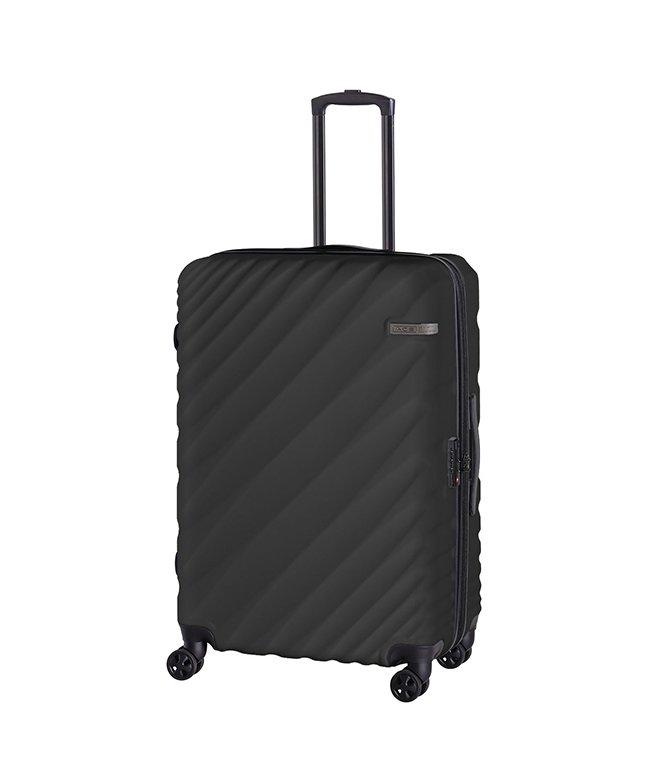 (ACE DESIGNED BY ACE/エースデザインドバイエース)エース オーバル スーツケース Lサイズ 90L/111L 拡張 軽量 大型 大容量 ACE 06423/ユニセックス グレー