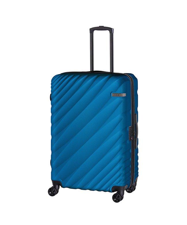 (ACE DESIGNED BY ACE/エースデザインドバイエース)エース オーバル スーツケース Lサイズ 90L/111L 拡張 軽量 大型 大容量 ACE 06423/ユニセックス ブルー
