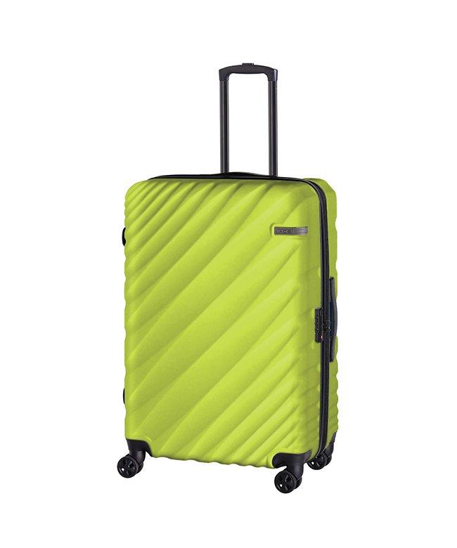 (ACE DESIGNED BY ACE/エースデザインドバイエース)エース オーバル スーツケース Lサイズ 90L/111L 拡張 軽量 大型 大容量 ACE 06423/ユニセックス グリーン系1
