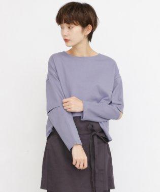オープンスリーブロンTシャツ