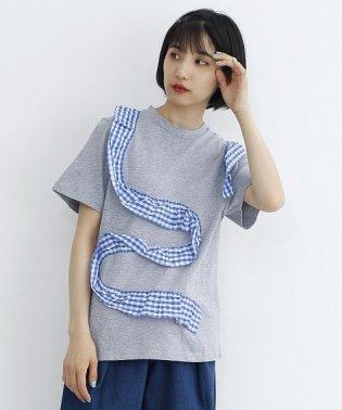 ドットフリルラインTシャツ